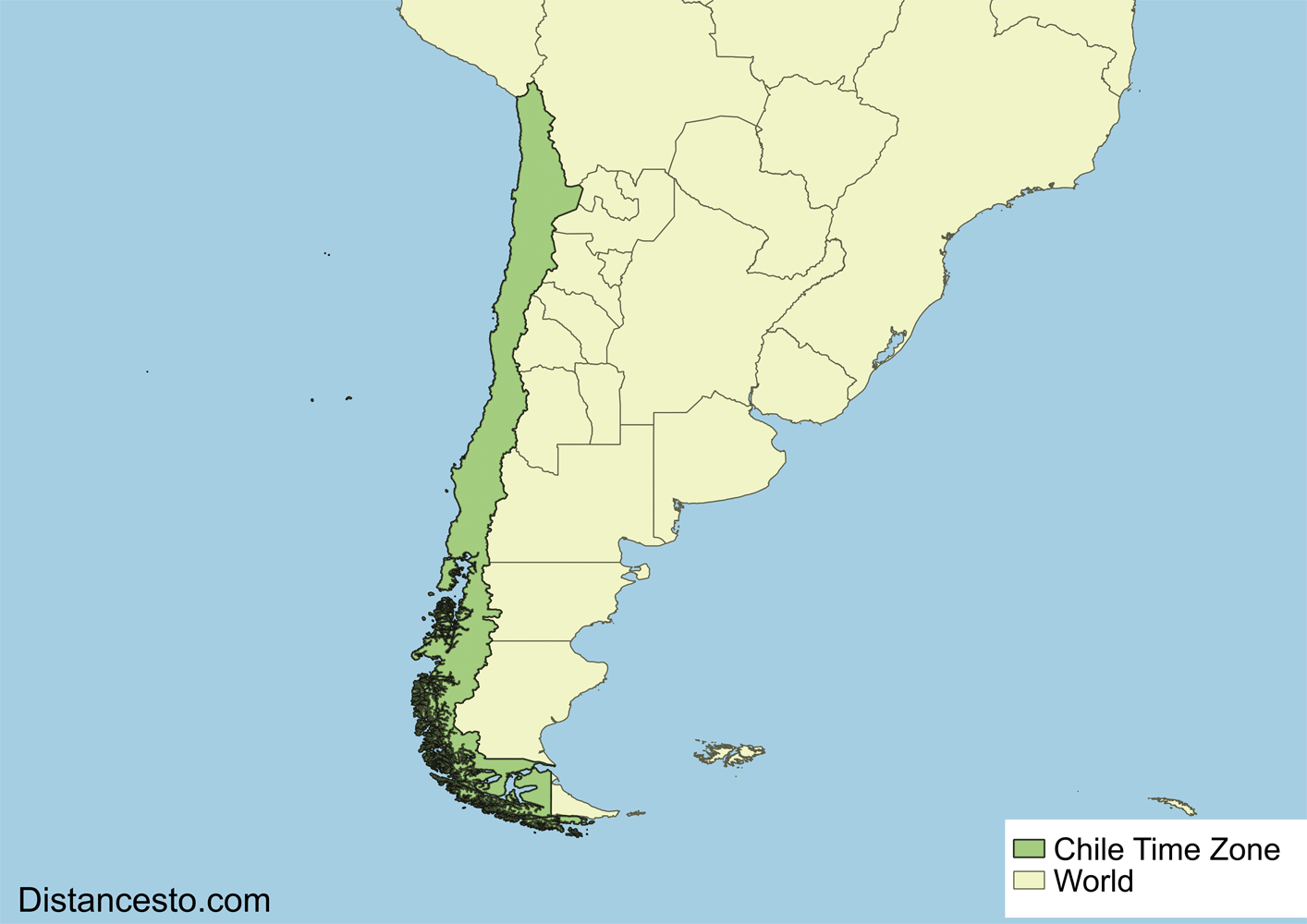 Chile Subway Map.Chile Time Zone Map Stadslucht