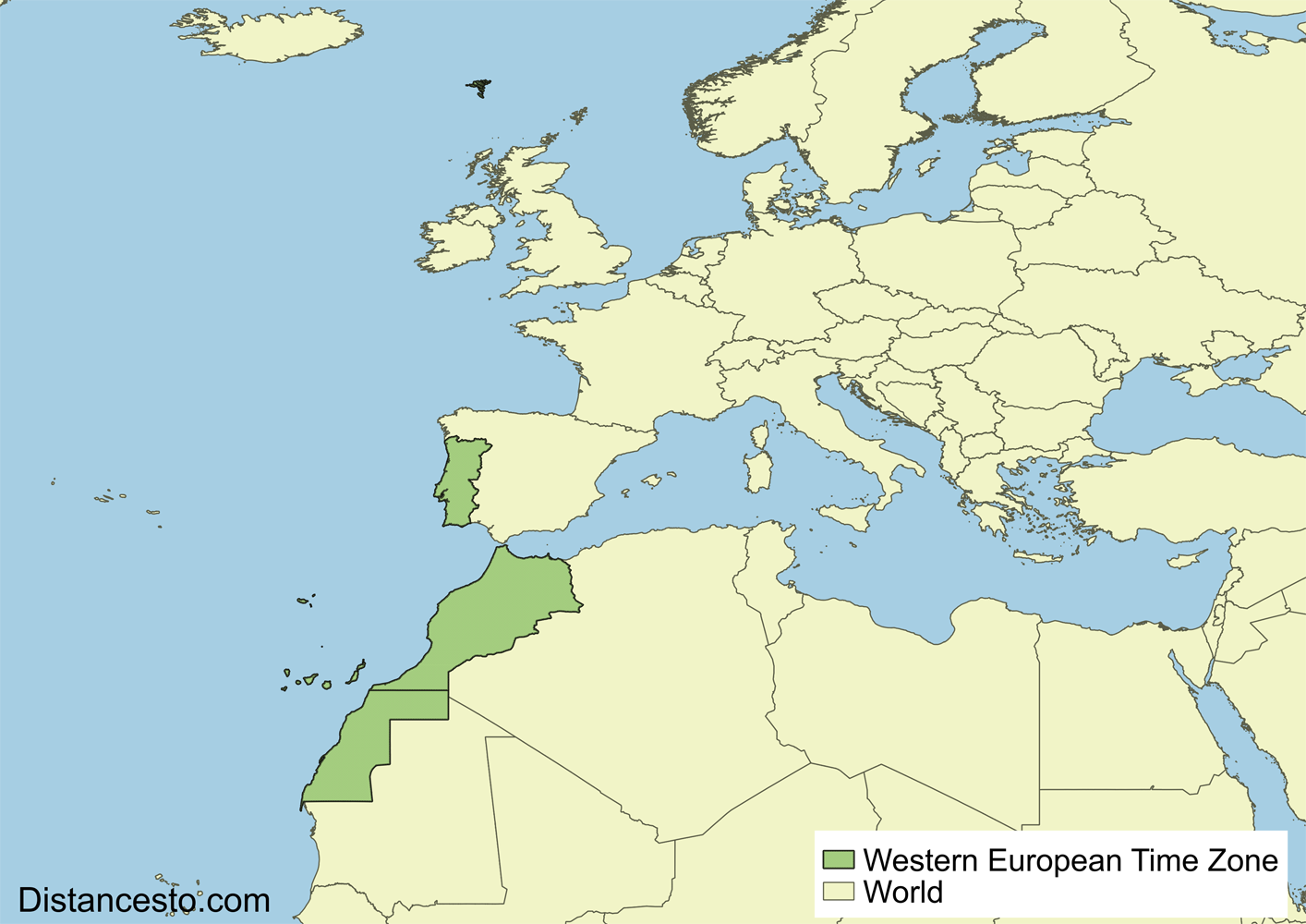 WET/WEST Western European Time Zone